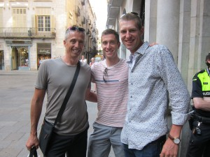 Marty, Christian Vandevelde and Ryder Hesjedal